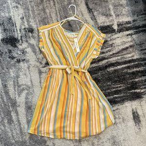 ‼️🆕 🆕 🆕 ‼️Monteau Striped Dress (L)